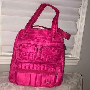 Handbags - Lug Pink Shoulder Bag